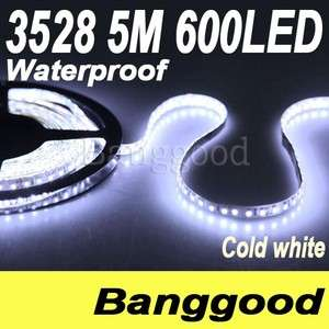 Car 5M 600 Led 3528 Waterproof Cool White SMD Flexible Lamp Strip