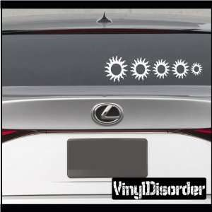 Family Decal Set Sun 01 Stick People Car or Wall Vinyl Decal Stickers