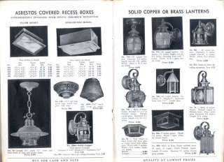 1938 ART DECO LAMPS & LIGHTING PRODUCTS CATALOG BOOK