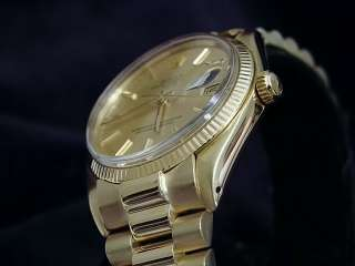 MENS ROLEX SOLID 14K YELLOW GOLD DATE PRESIDENT WATCH