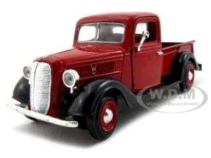 1937 FORD PICKUP TRUCK RED 124 DIECAST MODEL CAR
