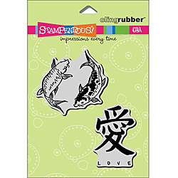Stampendous Koi Love Cling Rubber Stamp Set