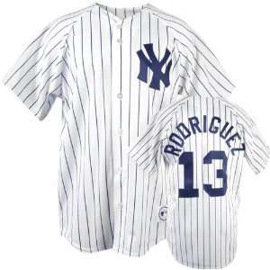 Alex Rodriguez Majestic MLB Home Pinstripe Replica New York Yankees