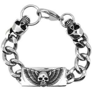 Inox Jewelry Skull 316L Stainless Steel Chain Link