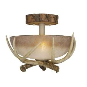 Vaxcel CF33012NS Lodge 12 2 Light Semi Flush Ceiling Light