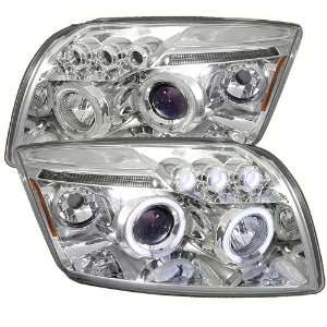 06 08 DODGE CALIBER HALO LED PROJECTOR HEADLIGHTS   CHROME