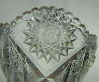 Antique ABP American Clear Cut Glass Candy Dish Bowl