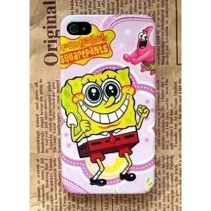 4G/4S Spongebob Style Hard Case/Cover/Protector,purple background