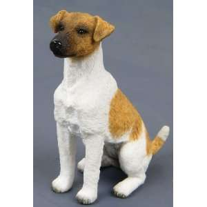 Figurine Smooth Fox Terrier Hand Painted Resin