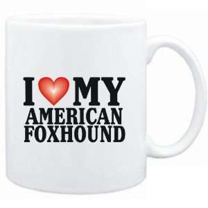 Mug White  I LOVE American Foxhound  Dogs Sports