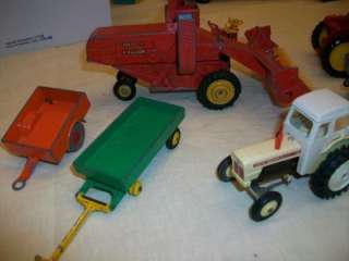 Toys Farm Lot Tractors Wagons David Brown Massey Combine & More