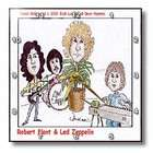 Funny Music Cartoons   Robert Plant And Led Zeppilin   Wall Clocks