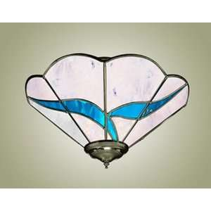 Z Lite Blue Ivy 3 Light Semi Flush Ceiling Fixture Pewter