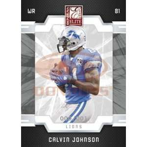 Calvin Johnson   Detroit Lions   2009 Donruss Elite NFL