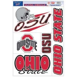 Ohio State Buckeyes Static Cling Decal Sheet *SALE