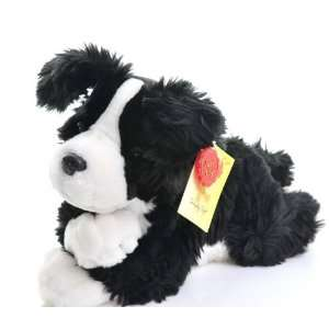 Border Collie Soft Toy Laying 35cm [Toy] Toys & Games