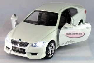 New BMW 335i 132 Alloy Diecast Model Car With Sound and Light White