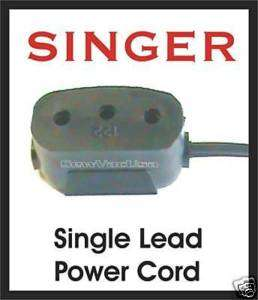 SINGER Sewing Machine Single Lead Power Cord 197874 001