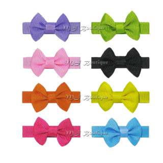 10 LUXURY BABY PET DOG HAIR CLIPS small cute BOWS WHOLESALE HANDMADE