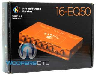 16 EQ50 MEMPHIS FIVE BAND GRAPHIC EQUALIZER for SUBWOOFER SUB
