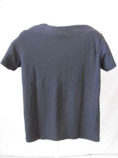 New LUCKY BRAND Black Tee Shirt Top Medium Med M NWT
