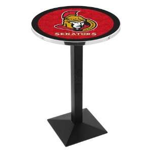 42 Ottawa Senators Bar Height Pub Table   Square Base