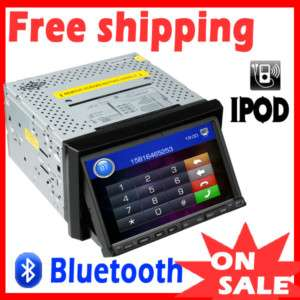Touch Screen 2 Din In Dash Car DVD Player Ipod BOSS