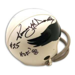 Tommy McDonald Autographed Philadelphia Eagles Throwback Mini Helmet