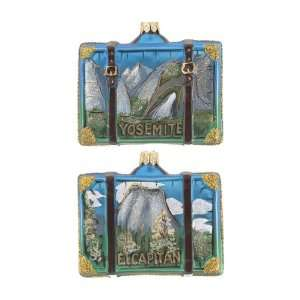 Personalized Yosemite Suitcase Christmas Ornament