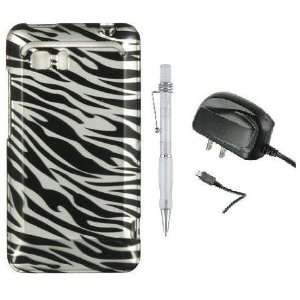 Black Silver Zebra   Design Hard Cover Protector Phone Case for HTC