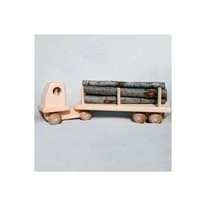 Wooden Toy Log Truck Toys & Games