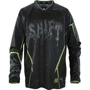 Shift Racing Squadron Jersey   Large/Black/Green