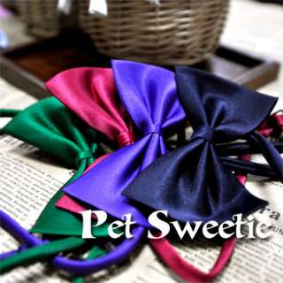 Cute Pet Dog Cat bowtie Necktie clothes Random Color