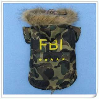 FBI Pet Toy Dog Pet Coat Clothes Jacket Apparel sweater
