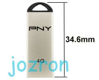 PNY M1 Attache 4GB 4G USB Flash Pen Drive Stick Metal