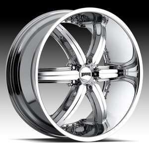 28 DUB Bomber 6 Chrome Wheel & Tire Package RIMS Chevy GMC Escalade