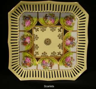 RARE~LOVE STORY~COURTING COUPLES~Lattice BOWL~W/GERMANY