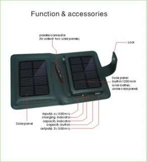 SOLAR Power PORTABLE BATTERY CHARGER For Motorola Atrix 2 / Droid