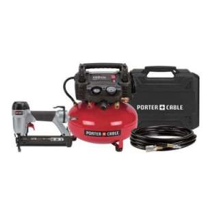 Porter Cable 6 Gallon Portable Steel Electric Air Compressor and 1 3/8