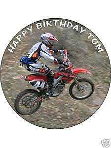 EDIBLE ICING BIRTHDAY CAKE TOP 7.5 MOTORBIKE DIRT BIKE