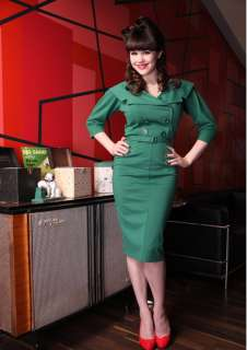 Bettie Page 40er 50er vintage retro Secretary Rockabilly Pencil Kleid