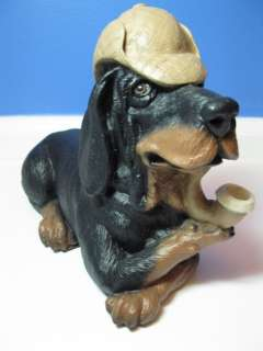 Vintage Yorkie Yorkshire Terrier Clay Ceramic Miniature Dog Figurine