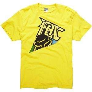 Fox Racing Angler T Shirt   2X Large/Yellow Automotive
