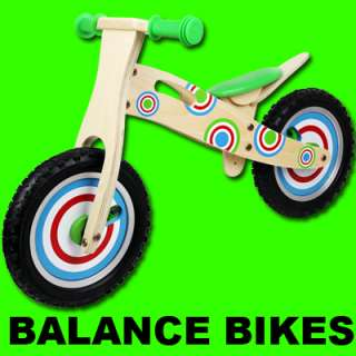KIDS/BOYS/GIRLS WOODEN BALANCE BIKE SCOOTER WOOD FIRST RIDE LEARNING