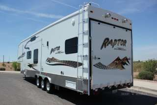 2006 Raptor 3712 Triple Slide 5th Wheel Toy Hauler Extra Clean in ,