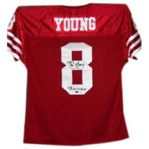 Steve Young Autographed Pro Style Jersey with SB MVP Inscription