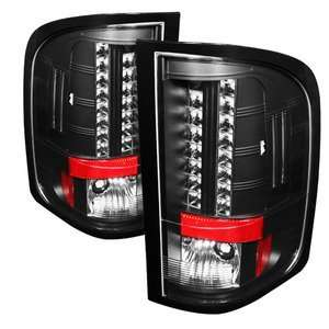 Black LED Tail Lights (With Two Reverse Socket 921 Bulb) Automotive