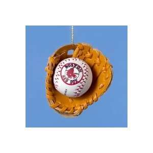 Pack of 24 MLB Boston Red Sox Baseball in Leather Glove Christmas