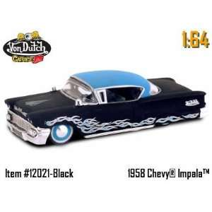 164 von Dutch Diecast Car   58 Chevy Impala Black Toys & Games