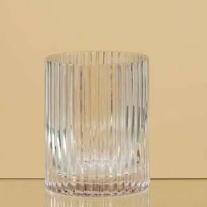 Ribbed Cylinder Round Glass Vase Wedding